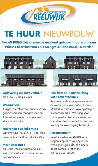 Aanvullende informatie huurwoningen